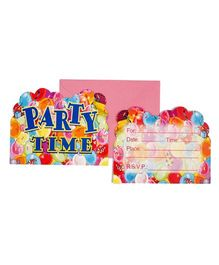 Funcart Party Time Theme Invitation Cards - Pack of 6