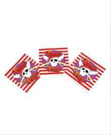 Funcart Pirate Party Theme Napkins - Pack of 9