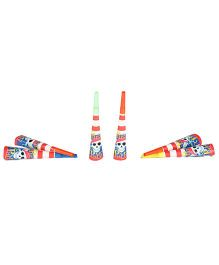 Funcart Pirate Party Theme Horns - Pack of 6
