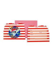 Funcart Pirate Party Theme Invitation Crads - Pack of 6