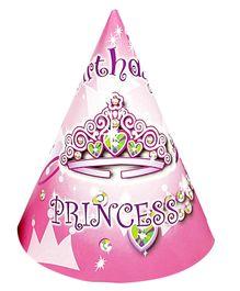 Funcart Birthday Princess Theme Party Cone Caps