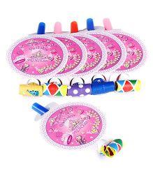 Birthday Princess Theme Blowouts - Pink