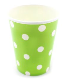 Funcart Green Polka Dot Party Beverage Cups - 9 Oz