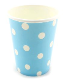 Funcart Blue Polka Dot Party Beverage Cups - 9 Oz