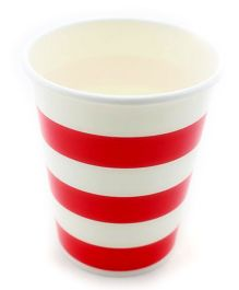 Funcart Red Sailor Stripe Party Beverage Cups - 9 Oz