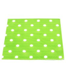 Funcart Party Paper Napkins Polka Dot Green - Pack of 20