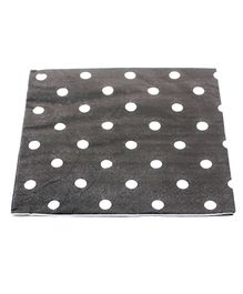 Funcart Party Paper Napkins Polka Dot Black - Pack of 20