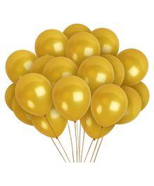 Funcart Gold Metallic Latex Balloon - Pack of 10