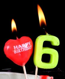 Funcart Number 6 Pick Style Candle