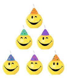 Funcart Smiley Face Candles - 6 Pieces