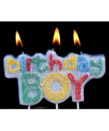 Funcart Glitter Birthday Boy Pick Candle - Multicolor