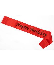 Funcart Happy Birthday Sash - Red