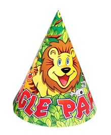 Funcart Jungle Party Theme Party Cone Caps