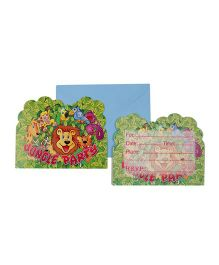 Funcart Jungle Party Theme Invitation Cards