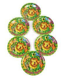 Funcart Jungle Party Theme Disposable Paper Plate - Pack of 6