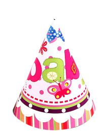Funcart Butterfly Baby Theme Party Cone Caps