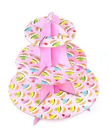 Funcart Three Tiered Cupcake Stand Cupcake Design - Pink