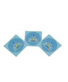 Funcart Prince Crown Theme Napkins - Pack of 9