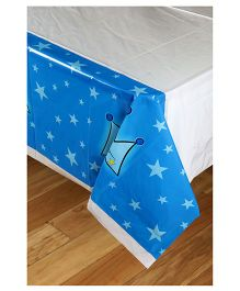 Funcart Prince Crown Theme Plastic Cover Sheet - Blue And White