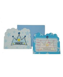 Funcart Prince Crown Theme Invitation Cards - Pack of 6