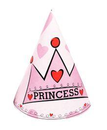 Funcart Princess Crown Theme Party Cone Caps - Pink