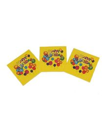 Funcart Colorful Balloons Theme Napkins - Pack of 9