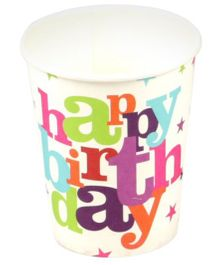 Funcart Star Birthday Theme Paper Cups - 9 Oz