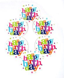 Funcart Star Birthday Theme Disposable Paper Plate - Pack of 6