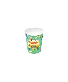 Funcart Frolic Birthday Theme Paper Cup - 9 Oz