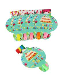 Funcart Frolic Birthday Theme Blowouts - Green