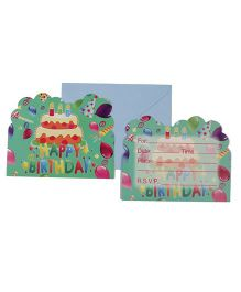 Funcart Frolic Birthday Theme Invitation Cards - Pack of 6