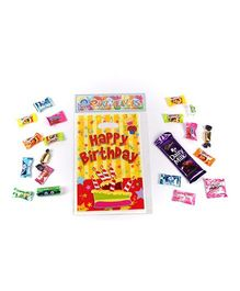 Funcart Stripe birthday Theme Loot Bag - Pack of 6