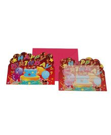 Funcart Three Tier Cake Theme Invitation Cards