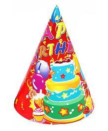 Funcart Three Tier Cake Theme Party Cone Caps