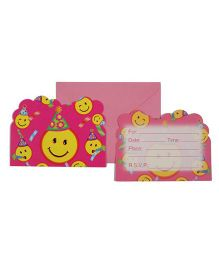 Funcart Smiley Theme Party Invitation Cards - Pack of 6
