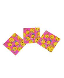 Funcart Smiley Theme Party Napkins - Pack of 9