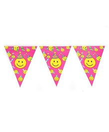 Funcart Smiley Theme Banner - Pink And Yellow