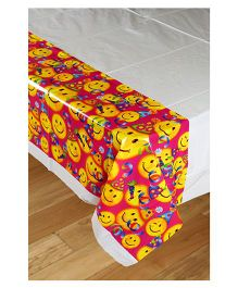 Funcart Smiley Theme Party Plastic Cover Sheet