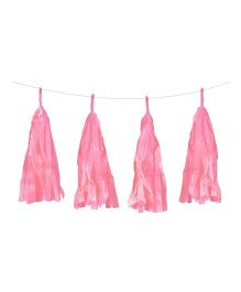 Funcart Tissue Paper Tassel Garland Kit - Light pink