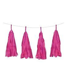 Funcart Tissue Paper Tassel Garland Kit - Pink