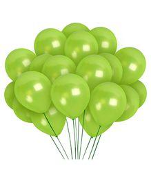 Funcart Metallic Latex Balloons Green  - Pack of 10