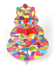 Funcart Three Tiered Cupcake Stand - Colorful Balloons