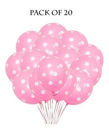Funcart Polka Dot Balloons Light Pink - Pack of 5