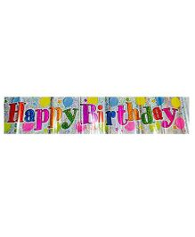 Happy Birthday Balloons Holographic Banner