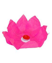Funcart Lotus Floating Water Lantern With Tea Wax - Pink