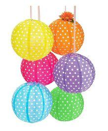 Funcart Polka Dot Paper Lantern - Pack of 6