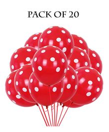 Funcart Polka Dots Balloons Red - Pack of 5