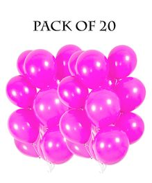 Funcart Metallic Latex Balloons Pink - Pack of 10
