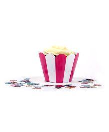 Funcart Cupcake Wrapper - Pink Stripes