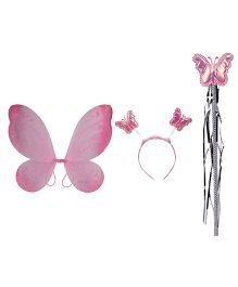Funcart Butterfly Wing Set - Baby Pink Glitter